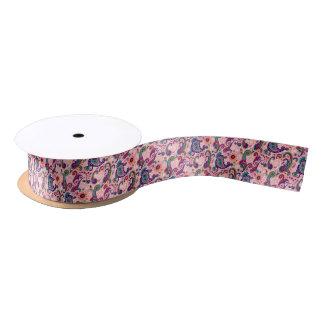 Pretty Pink Paisley Pattern Satin Ribbon