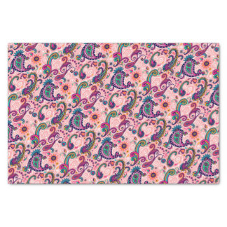 Pretty Pink Paisley Pattern Tissue Paper