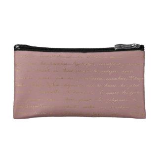Pretty Pink Paris Script Cosmetic Bag