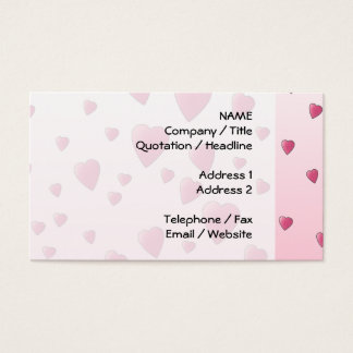 Pretty Pink Pattern of Love Hearts. Business Card