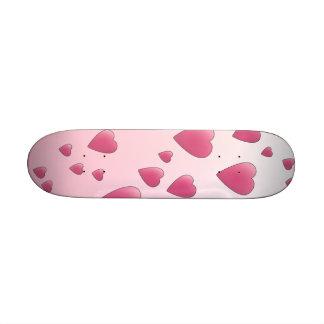Pretty Pink Pattern of Love Hearts. Skate Board Deck