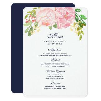 Pretty Pink Peonies Menu Cards (5x7)
