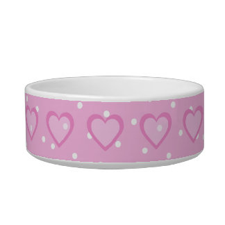 Pretty Pink Polka Dot Customisable Pet Bowl