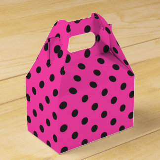 Pretty Pink Polka Dot Halloween Gable Favor Box