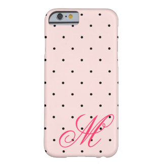 Pretty Pink Polka Dots Monogram iPhone 6 Cases