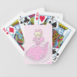 Pretty Pink Princess Bicycle Playing Cards