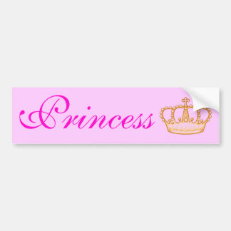 Pretty Pink Princess Bumperr Sticker Bumper Sticker