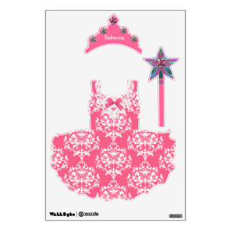 Pretty Pink Princess Wall Stickers