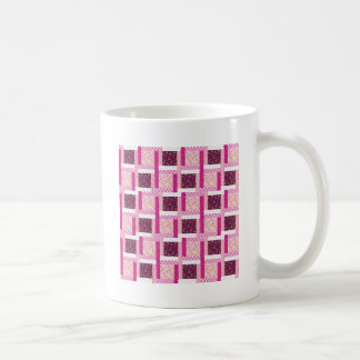 Pretty Pink Purple Patchwork Quilt Design Gifts Coffee Mug
