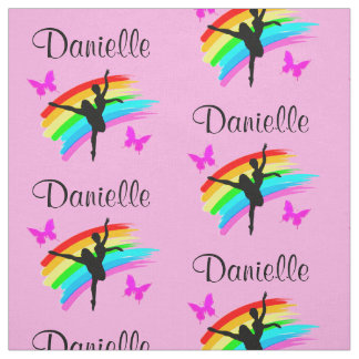PRETTY PINK RAINBOW PERSONALIZED DANCER FABRIC