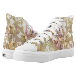 Pretty Pink Rose Floral Shoes