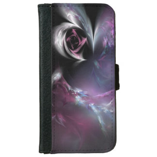 Pretty Pink Rose Fractal iPhone 6 Wallet Case