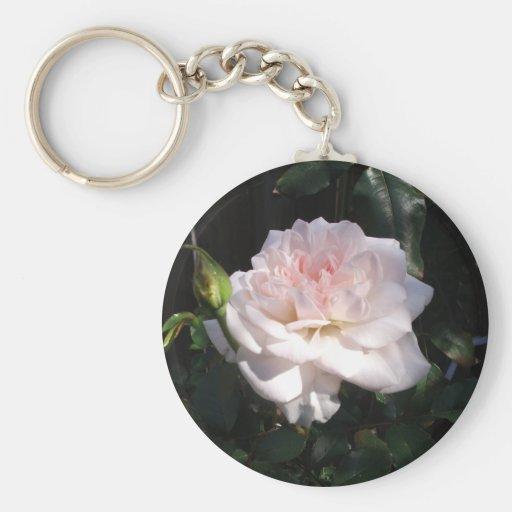 Pretty Pink Rose Keychain