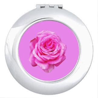 Pretty Pink Rose, Pink Travel Mirror