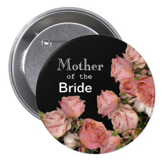 Pretty Pink Roses 3 Inch Round Button