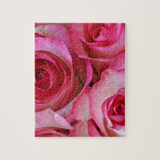Pretty pink roses jigsaw puzzle