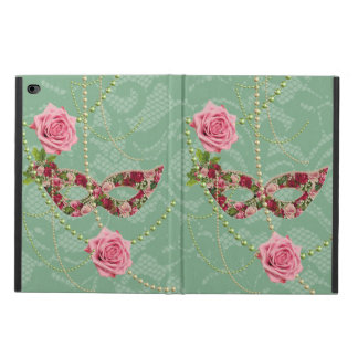 Pretty Pink Roses Masquerade & Pearls Soft Green Powis iPad Air 2 Case
