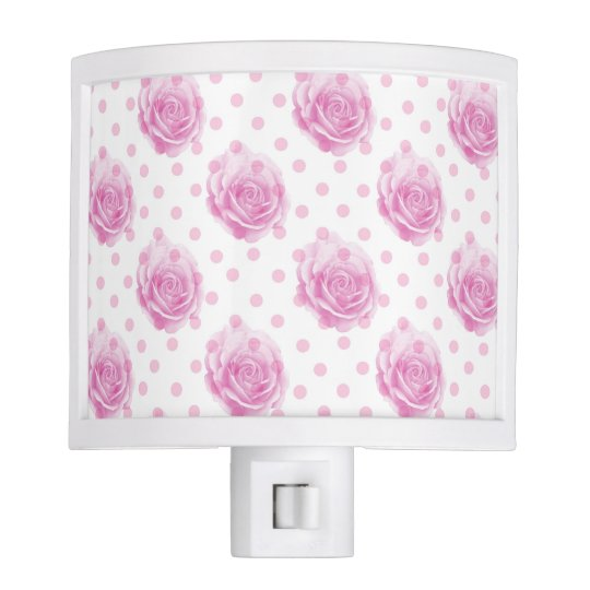 Pretty pink roses night lights