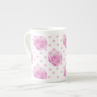 Pretty pink roses tea cup