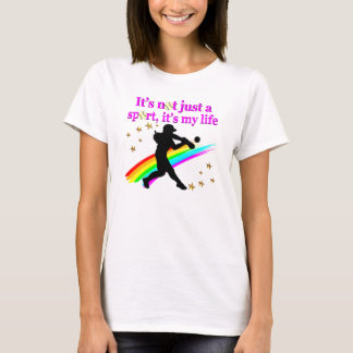 PRETTY PINK SOFTBALL IS MY LIFE DESIGN T-Shirt