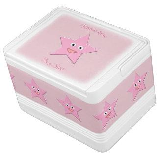 Pretty Pink Star Custom Can Cooler
