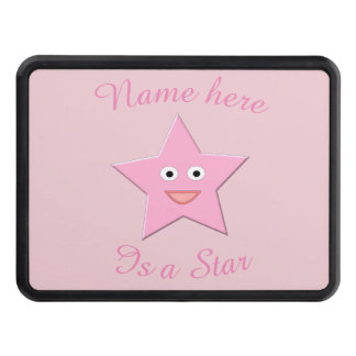 Pretty Pink Star Custom Hitch Cover