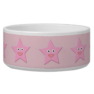 Pretty Pink Star Pet Bowl
