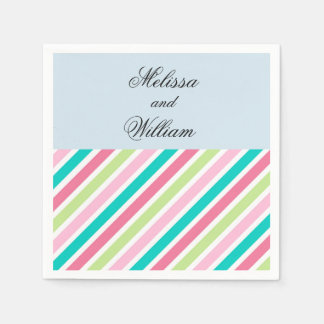 Pretty Pink Stripes Disposable Napkin