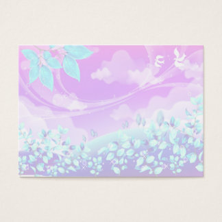 pretty pink summer fantasy landscape design business card