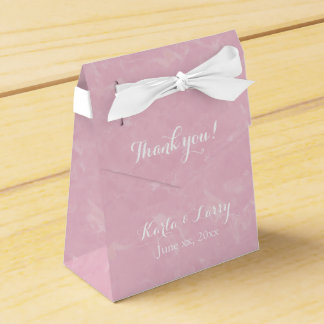 Pretty Pink Thank You Floral Party Favor Box