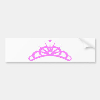 Pretty Pink Tiara Bumper Sticker