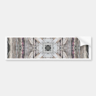 Pretty Pink Tinged Aztec Inspired Pattern Bumper Sticker