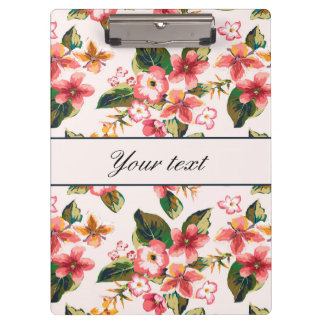 Pretty Pink Tropical Flower Pattern Clipboards