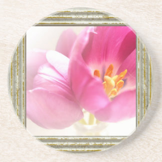 Pretty Pink Tulips Coaster