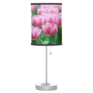 Pretty Pink Tulips Table Lamp