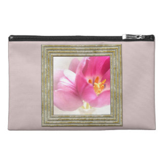 Pretty Pink Tulips Travel Accessory Bag