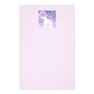 Pretty Pink Unicorn Letterhead