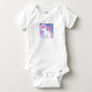 Pretty Pink Unicorn Short-Sleeved Gerber Vest Baby Onesie