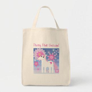 Pretty Pink Unicorn Tote Bag