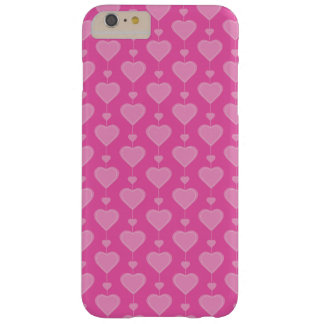 Pretty Pink Valentine Hearts Barely There iPhone 6 Plus Case