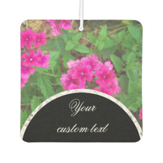 Pretty pink verbena flowers floral photo air freshener