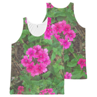 Pretty pink verbena flowers floral photo All-Over-Print tank top