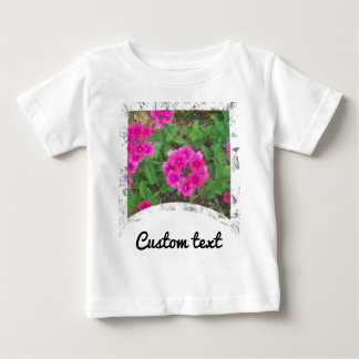 Pretty pink verbena flowers floral photo baby T-Shirt