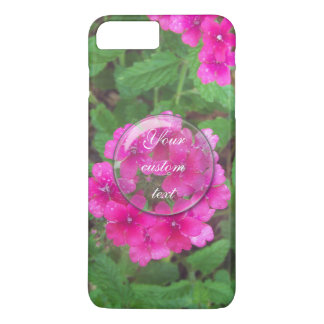 Pretty pink verbena flowers floral photo Case-Mate iPhone case