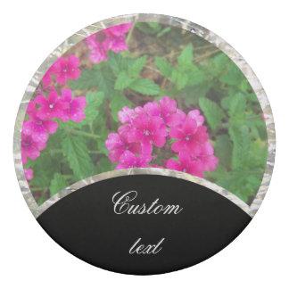 Pretty pink verbena flowers floral photo eraser