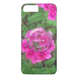 Pretty pink verbena flowers floral photo iPhone 8 plus/7 plus case