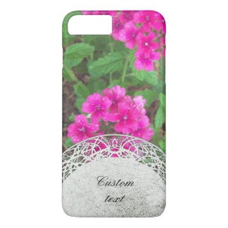Pretty pink verbena flowers floral photo iPhone 8 plus/7 plus case