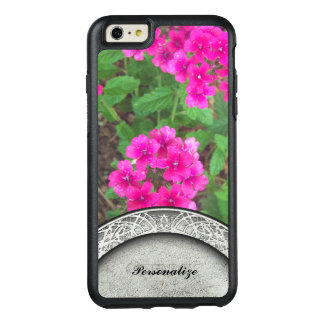 Pretty pink verbena flowers floral photo OtterBox iPhone 6/6s plus case