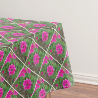 Pretty pink verbena flowers floral photo tablecloth