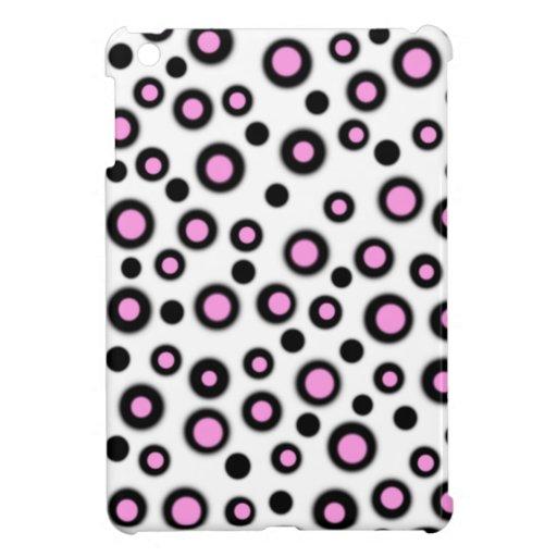 Pretty Pink & White Dots iPad Mini Case